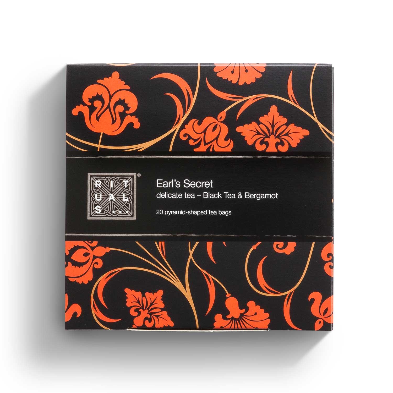 Accessoire hôtellerie - Boîte de thé noir Earl's Secret Ritals