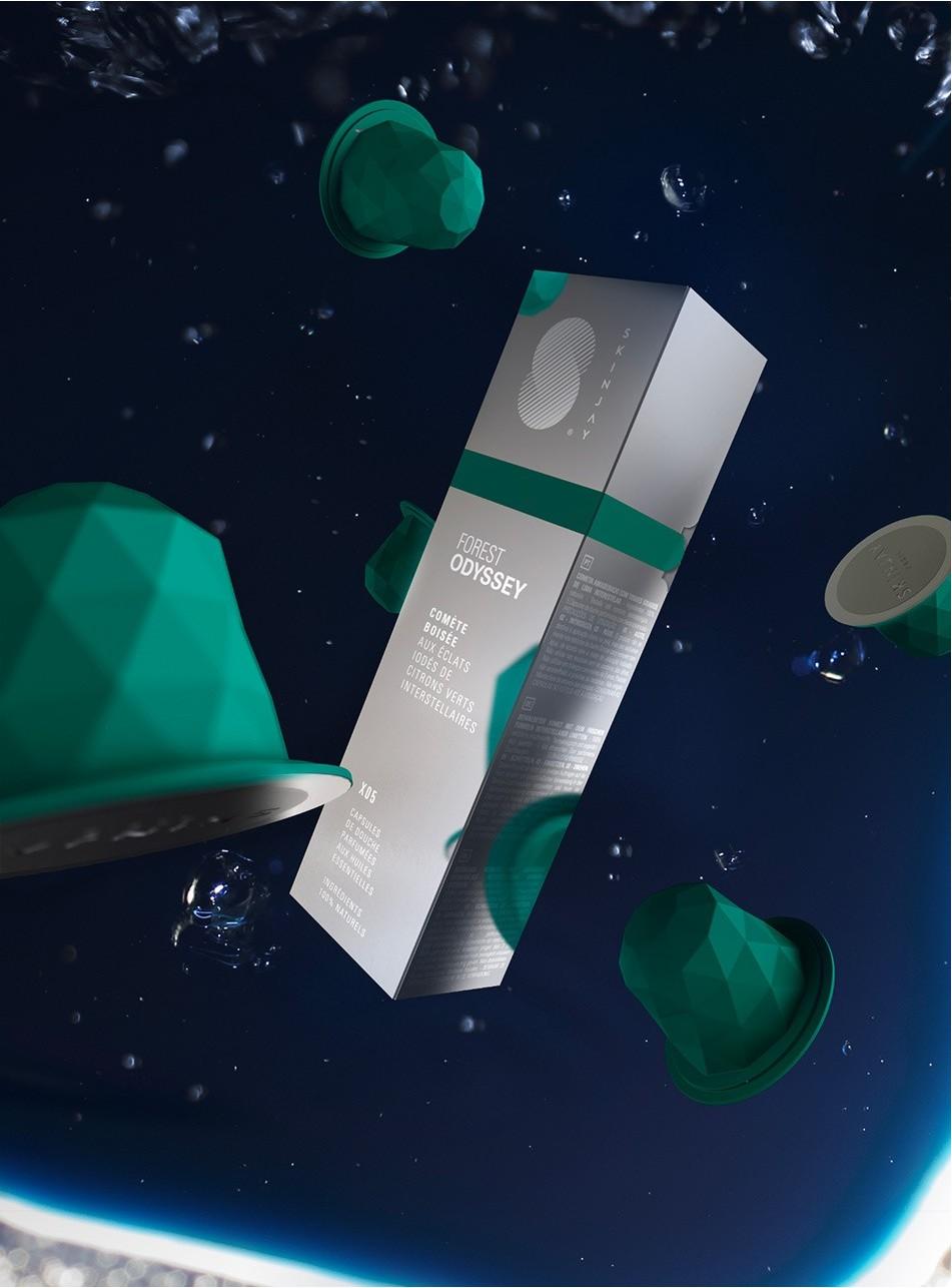 Capsules Skinjay Forest Odyssey et son packaging