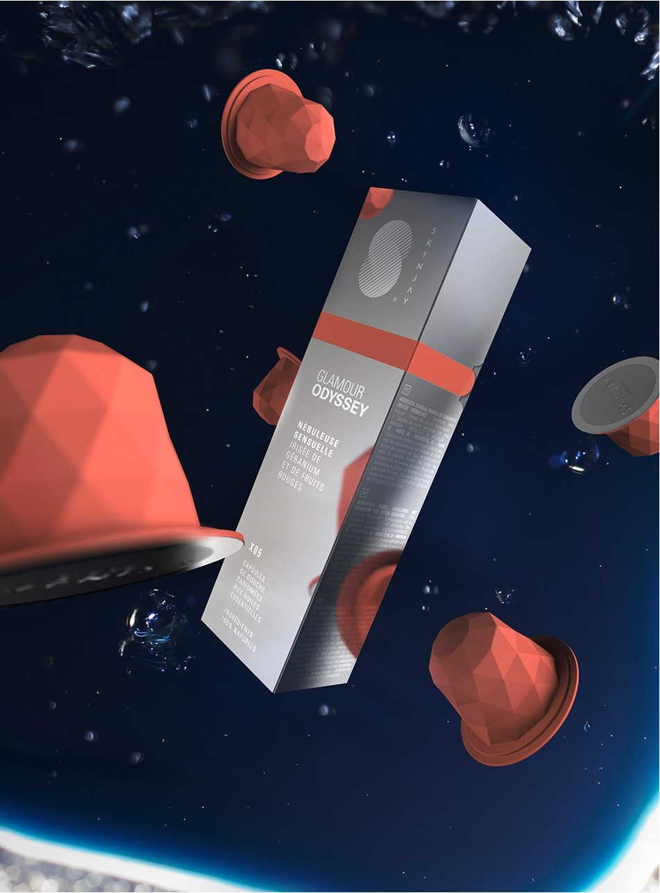 Capsules Skinjay Glamour Odyssey et son packaging