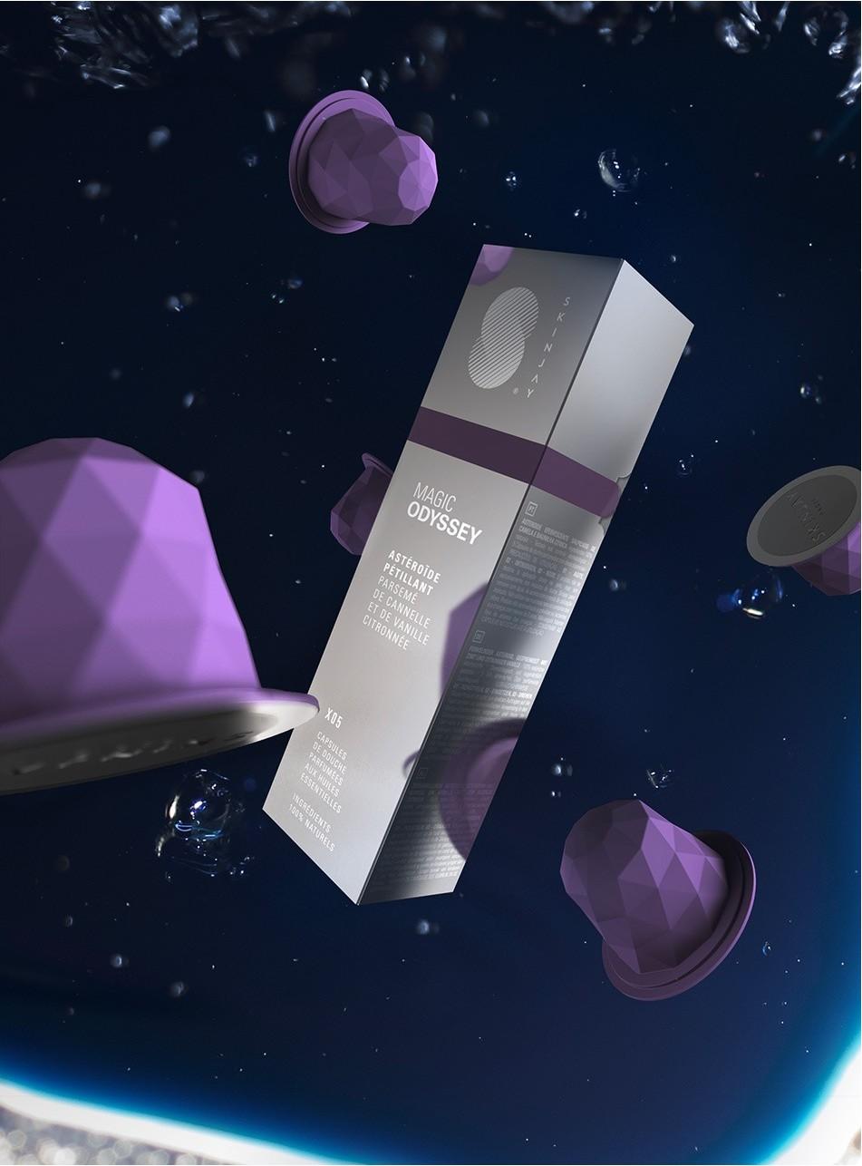 Capsules Skinjay Magic Odyssey et son packaging