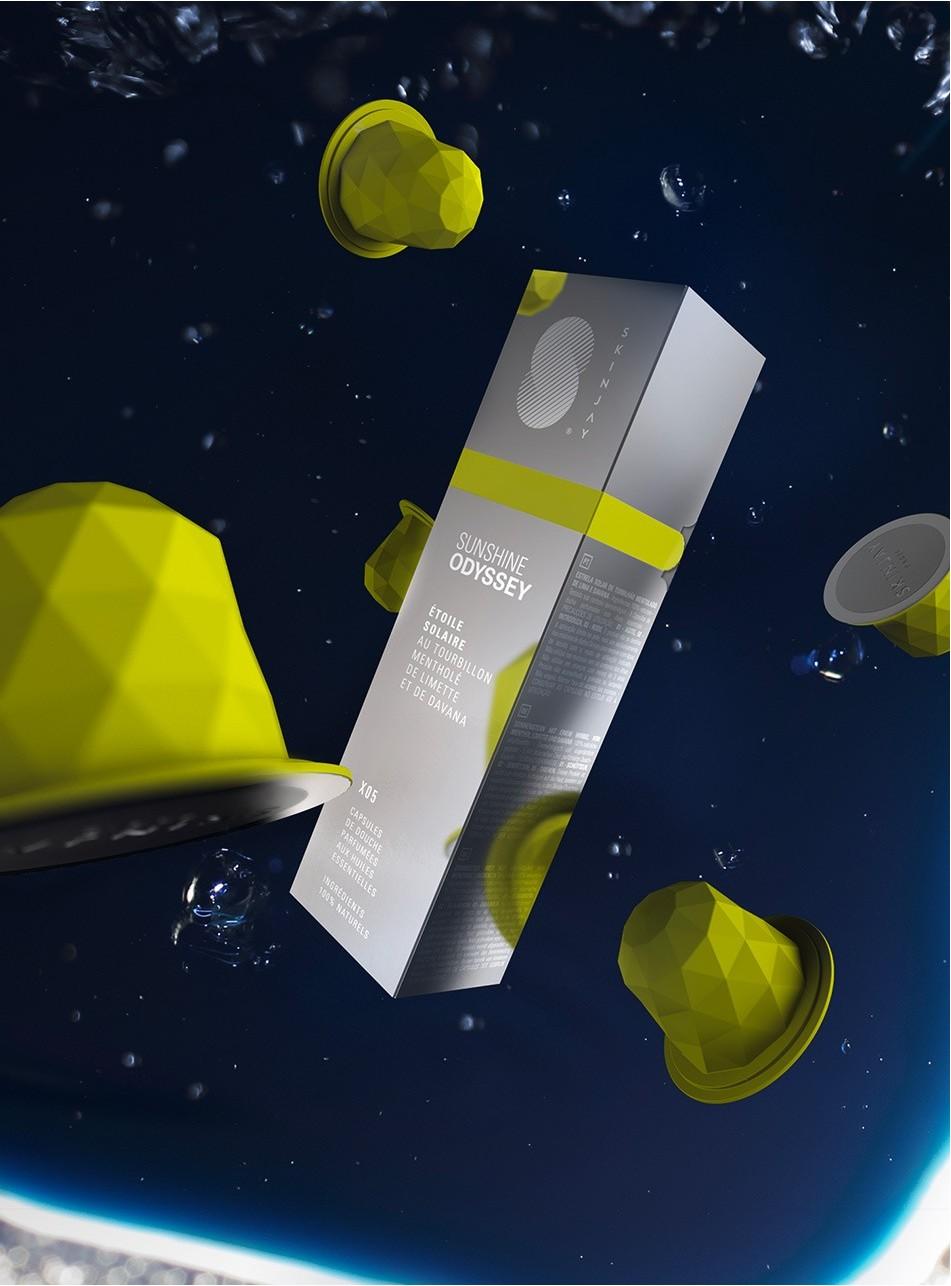 Capsules Skinjay Sunshine Odyssey et son packaging